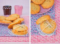 Con chocolate blanco y arándanos: Deliciosas. Kitchenaid, Fondant, Cupcakes, Chocolate Blanco, Cookie Recipes, Cookies, Blog, Primitive Kitchen, Homemade
