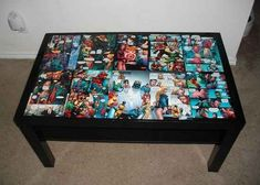 DC Comics Coffee Table   21 Geeky Projects Fit For A Superhero