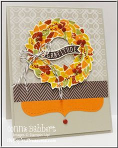 InkspiredTreasures.com, Connie Babbert, Wonderful Wreath, Fall Wreath, Stampin Up