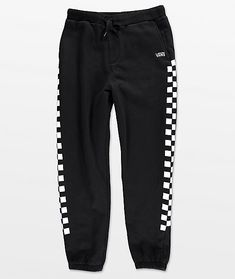 Keep your lounge style tight with the Check black and white sweatpants from Vans. Super soft fleece lined pants features white checker patterns down each outer leg and finished with the Vans name embroidered in white at the left hip. Cute Sweatpants, Sweatpants Outfit, Cute Goth Outfits, Checkered Vans Outfit, 8th Grade Outfits, Khaki Pants Outfit, Checker Pants, Grey Skinny Jeans, Look Vintage