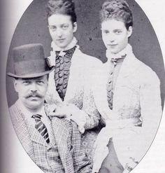 Tsar Alexander III, Queen Alexandra, Empress Marie 1873.