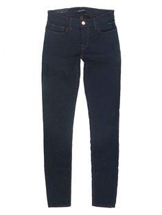 Nwt J Brand Designer 910 Ankle Skinny Leg Low Rise Stretch Jeans Pure Dark $198