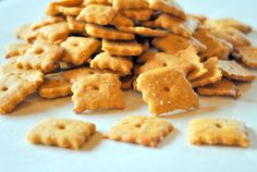 Cheez-It/Wheat Thins Hybrid if you make the healthy version, but the indulgent version is a little closer to the original, without being scarily florescent.  Vegan crackers