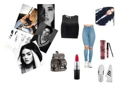 """""""Unbenannt #5"""" by belma-salanovic ❤ liked on Polyvore featuring Miss Selfridge, NLY Accessories, Kylie Cosmetics, MAC Cosmetics and adidas"""