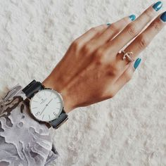 stunning watch, ring and nails