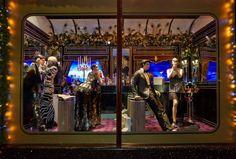 Printemps Haussmann, christmas windows, paris, prada, lanvin, albert elbaz, chanel, christian dior 1   Fashion   Vogue