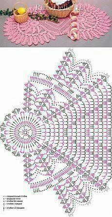 New crochet table runner flower doily patterns ideas Crochet Circle Pattern, Crochet Table Runner Pattern, Crochet Doily Diagram, Crochet Circles, Crochet Doily Patterns, Crochet Chart, Crochet Motif, Crochet Designs, Crochet Lace