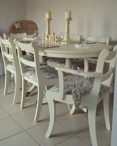Shabby Chic Table And Chairs Extending Dining Kitchen Farmhouse French