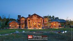 Handcrafted Log Home Exterior by PrecisionCraft Log Homes & Timber Frame, via Flickr