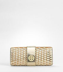Woven Metallic Patent Clutch - someone please tell Brett to save up all of his money and buy this puppy for me! - Liz