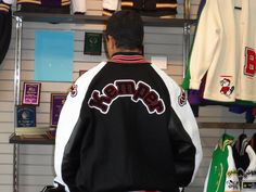 Letterman Jacket, black and red