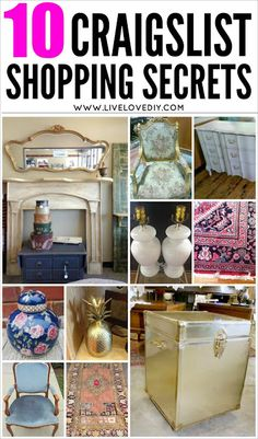 10 Secrets for Buying The BEST Furniture on Craigslist! Love this! So many great tips!
