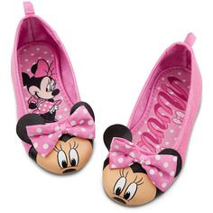 Minnie Mouse Flat Shoes for Girls ($15) ❤ liked on Polyvore