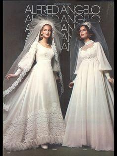 1980s Wedding Dresses   Vintage Alfred Angelo