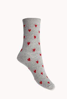 Heart of Hearts Socks | Forever 21 - 2040495294