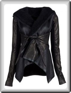 plus size coats for women | Rick Owens Women's Black Leather Plus-Size Long Jacket Coat at ...