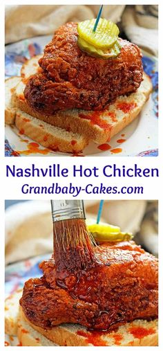 This is the ultimate Nashville Hot Chicken Recipe! Better than Hattie B's! Spicy and crispy golden brown fried chicken gets an extra coating of hot spiced oil taking it over the top. This tastes just as delicious as the Best Hot chicken in Nashville! Best Chicken Recipes, Turkey Recipes, Nashville Hot Fried Chicken Recipe, Nashville Hot Recipe, Tennessee Hot Chicken Recipe, Hattie B's Hot Chicken Recipe, Best Fried Chicken Recipe, Game Recipes, Top Recipes