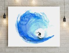 Surf Art - Wave Watercolor painting - Poster Print - Big size - Surf painting - Sea watercolor - Surf poster - Wave Art - Michelle Dujardin by Zendrawing on Etsy https://www.etsy.com/listing/234353871/surf-art-wave-watercolor-painting-poster