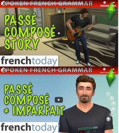 This popular lesson focuses on the use and differences of Passé-Composé versus Imparfait in the French language, with many examples and explanations + videos French Tenses, French Verbs, French Grammar, High School French, French Class, Spanish Class, Am Stram Gram, French Pictures, Verb Conjugation