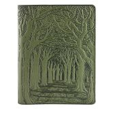 Leather Composition Notebook Cover - Avenue of Trees
