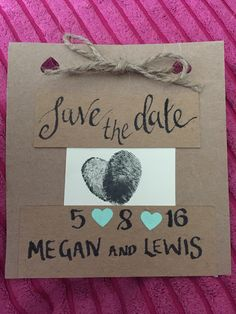 DiY save the date :)