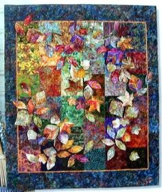 Pile O' Leaves Quilt Pattern - Easy Foundation Piecing & Applique! by danielle