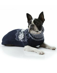 blue snowflake sweater