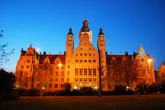 This is the New City Hall. The Pleißenburg Castle was demolished in the end of the 19th century. On the same grounds the New City Hall was built with the design of Hugo Licht in the style of historism. Since 1905 it's the domicile of the City Administration and is one of the most important City Hall buildings.    © Andreas Schmidt