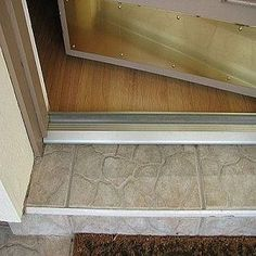 liked on pinterest how to replace a door threshold stepbystep