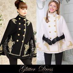 Military lolita cape coat