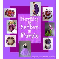 Better in Purple by renaissance-fair on Polyvore featuring Liz Claiborne