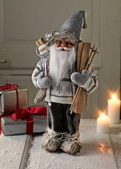 Julenisse HERVARD H41cm hvit   JYSK