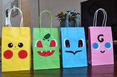 Pokemon Party Bags  Pokemon favor bags Pokemon birthday