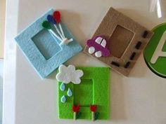 Portafoto fai da te 3d Paper Crafts, Foam Crafts, Fabric Crafts, Felt Phone Cases, Crafts For Kids, Arts And Crafts, Felt Pictures, Felt Fairy, Felt Decorations