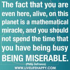 inspir thought, happi life, fact, stuff, miser