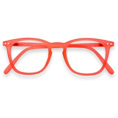 "See concept - ""e"" orange safran reading glasses ($39) ❤ liked on Polyvore featuring accessories, eyewear, eyeglasses, short glasses, reading eye glasses, reading glasses, orange eyeglasses and orange glasses"