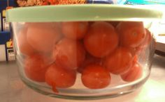 Freezing Cherry Tomatoes...had no idea you could freeze tomatoes at all.