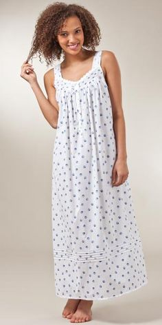 8d561dc226db Sale - Eileen West Sleeveless Cotton Lawn Ballet Gown - Daisy Lace Seashell Nighty  Night,