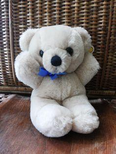 Dakin Bear Vintage 1985 Mini Cuddle Beige White 7 by EastwardFinds, $10.00