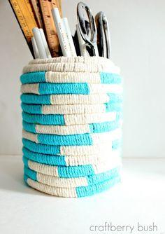 Cómo hacer cestos con cuerdas - El tarro de ideasEl tarro de ideas