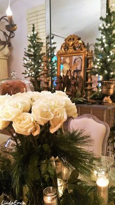French Country Christmas, Christmas Home, Merry Christmas, Holidays And Events, Happy Holidays, Beautiful Table Settings, Entertaining, House Styles, Holiday Decor