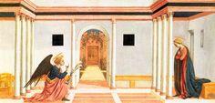 L'annonciation, prédelle du Retable de Santa Lucia dei Magnoli Domenico Veneziano, c. 1445 Tempera sur bois, 27 x 54 cm