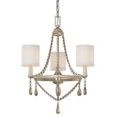Found it at Wayfair - Ellicott Mills 3-Light Shaded Chandelier