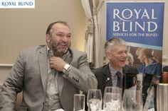 "Royal Blind Try & Score Celebrity Quiz Night in Edinburgh 2013 Guest Speaker Neil ""Razor"" Ruddock & Royal Blinds Chief Executive Richard Hellewell"