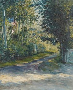 Gustave Caillebotte - L'Allée de la villa des Fleurs, Trouville, 1882