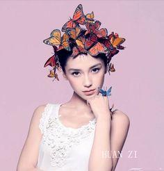 Livraison gratuite! bohème esthétique simulation papillon épingle à cheveux cheveux clip ligne féminine côté cheveux accessoires photo accessoires