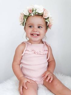 floral crown girl toddler gift newborn hair band Yellow daffodil headband one size fits all spring hair accessory Easter gift