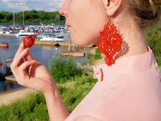 Lace earrings Nocturne Tatting Earrings, Lace Earrings, Lace Jewelry, Crochet Earrings, Bridesmaid Earrings, Wedding Earrings, Wedding Jewelry, Lace Wedding, Nocturne