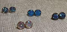 Earrings - Mini Rhinestone Studs by ModMomof2Boys on Etsy