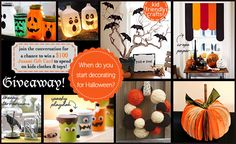 cute halloween ideas here: we have made the painted lantern jars every year and they are always a hit.